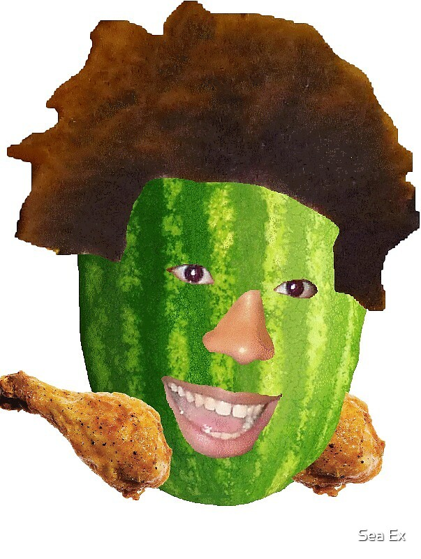 Watermelon TriHard - Twitch Emote by Sea Ex