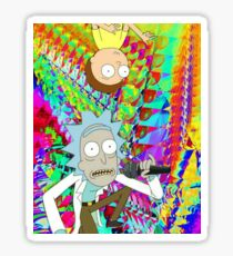 Rick and Morty tab trippy Sticker