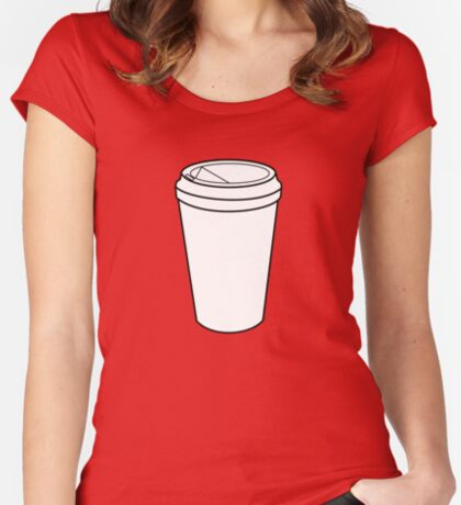 Where's My Coffee? Fitted Scoop T-Shirt