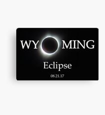 Wyoming Eclipse - Totality Photo Canvas Print