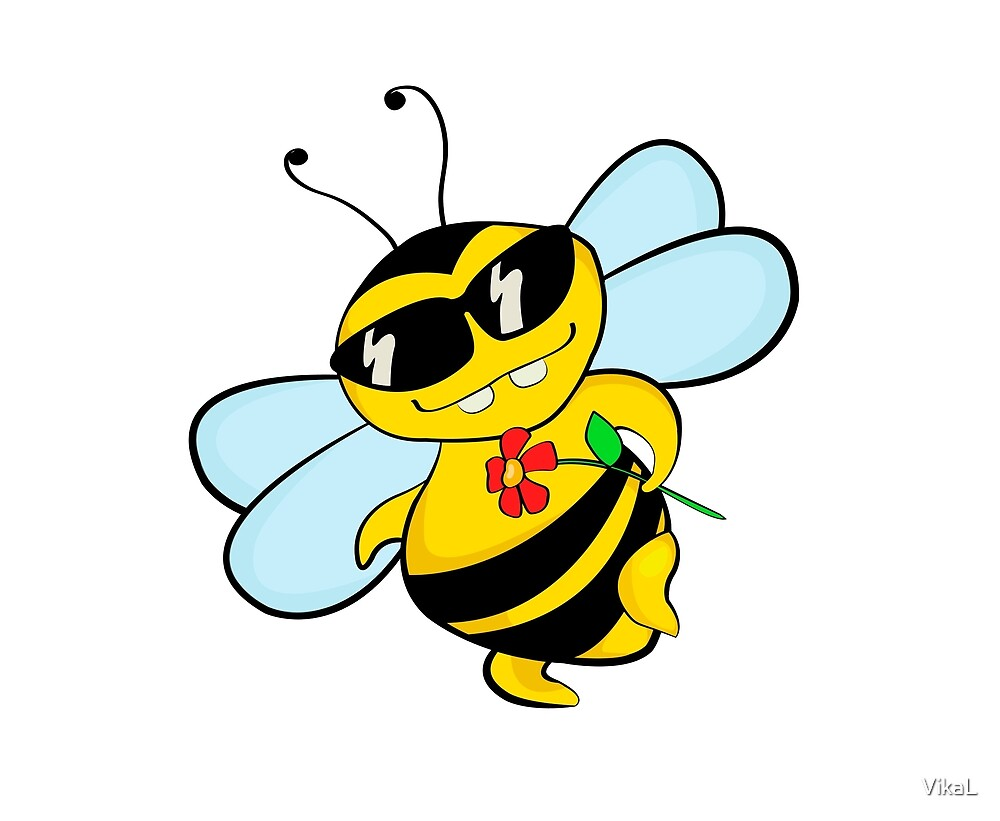 A flirting bee by VikaL