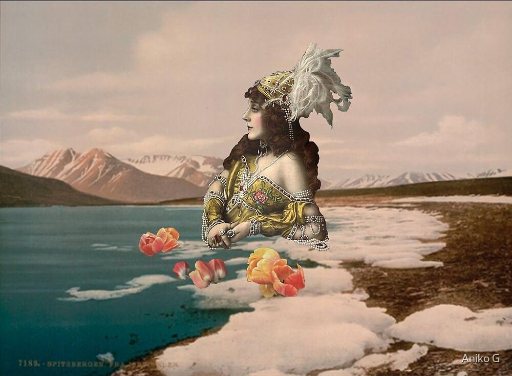 Galactic Mermaid Ashore by Aniko Gajdocsi