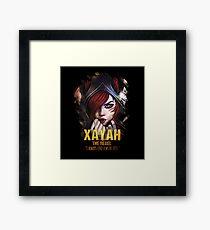 League of Legends XAYAH [The Rebel] Framed Print