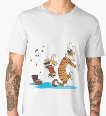 Calvin and Hobbes Dancing Men's Premium T-Shirt