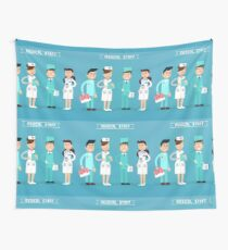 Medical Staff. Nurse and Doctor. Hospital Medical Team. Health Care. Medicine Professional. Medical Concept. Wall Tapestry