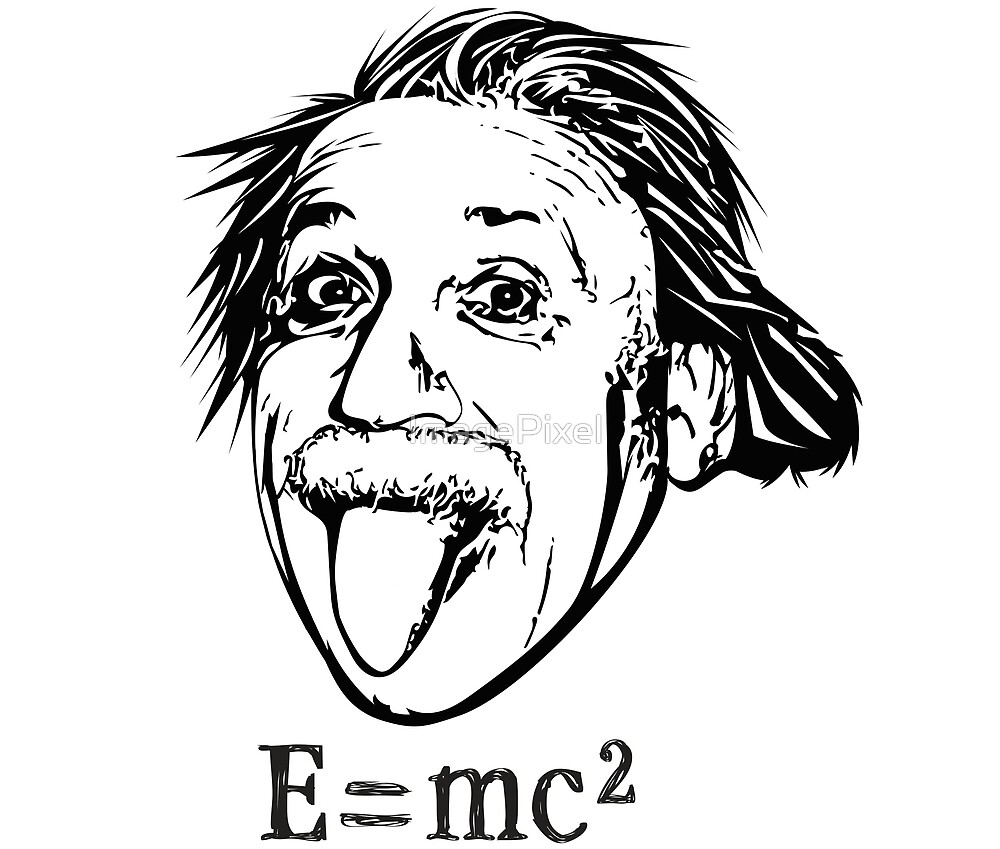 Funny Albert Einstein With E=mc2 by ImagePixel