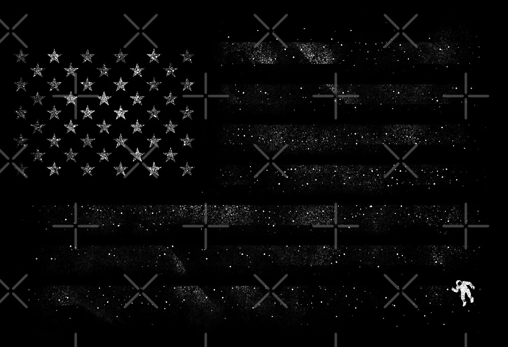 American Flag Space by tobiasfonseca