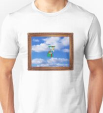 squidward in the hat box in the sky in the picture frame T-Shirt