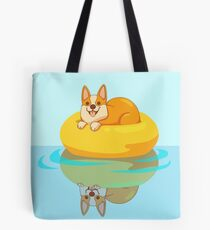 Summer Corgi Tote Bag