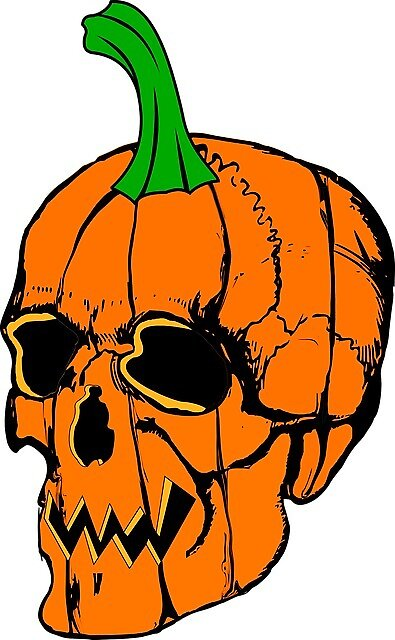 Pumpkin Skull by stickahz