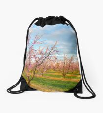 In the orchard... Drawstring Bag