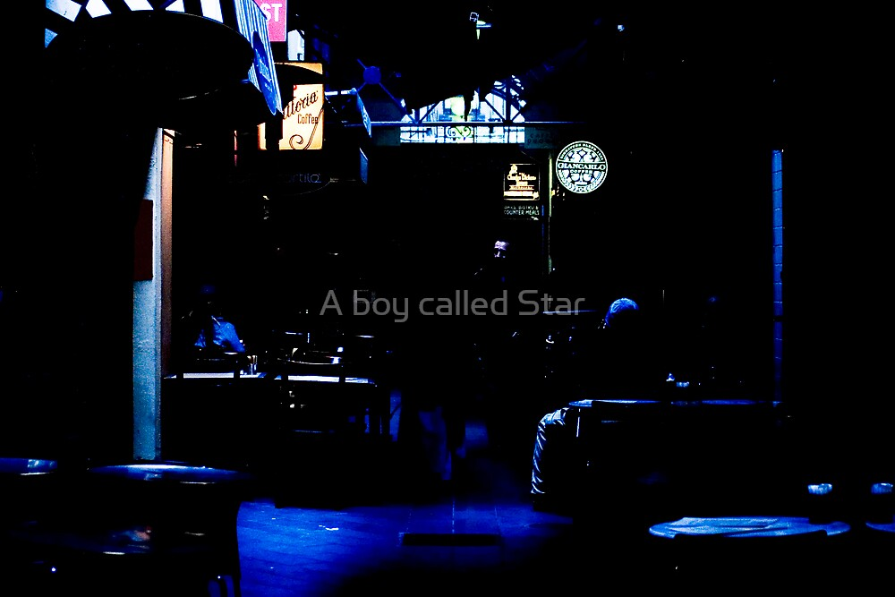 I sailed around those bumps in the night to your beacon in the gloom. by A boy called Star