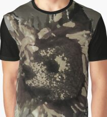 Grey Sunflower Graphic T-Shirt