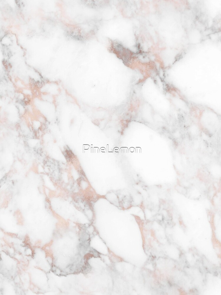 Rose Gold Marble White by PineLemon