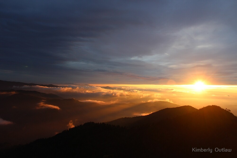 Mt. LeConte Sunset by Kimberly  Outlaw