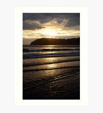 sunrise ripples Art Print