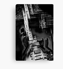 Rock Star an abstract of an electric guitar  Canvas Print
