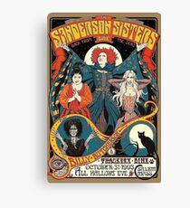 Sanderson Sisters Vintage Tour Poster Canvas Print