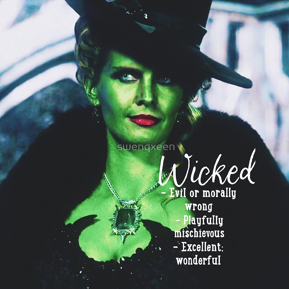 Zelena The Wicked Witch Once Upon A Time Wicked Definition by swenqxeen