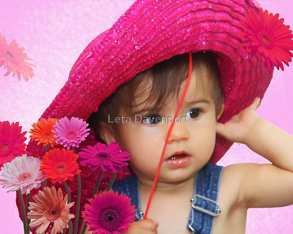 Pink Hat Baby by Leta Davenport