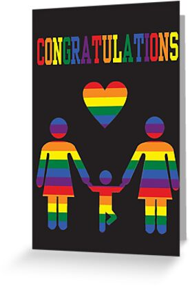 Congratulations Lesbian Mums - Greeting Card - from Bent Sentiments Lesbian Interest by bentsentiments