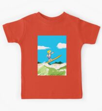 Boy surfing on the beach Kids Clothes