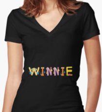 Winnie Women's Fitted V-Neck T-Shirt