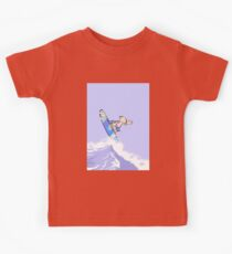 Boy surfing on a big wave Kids Clothes