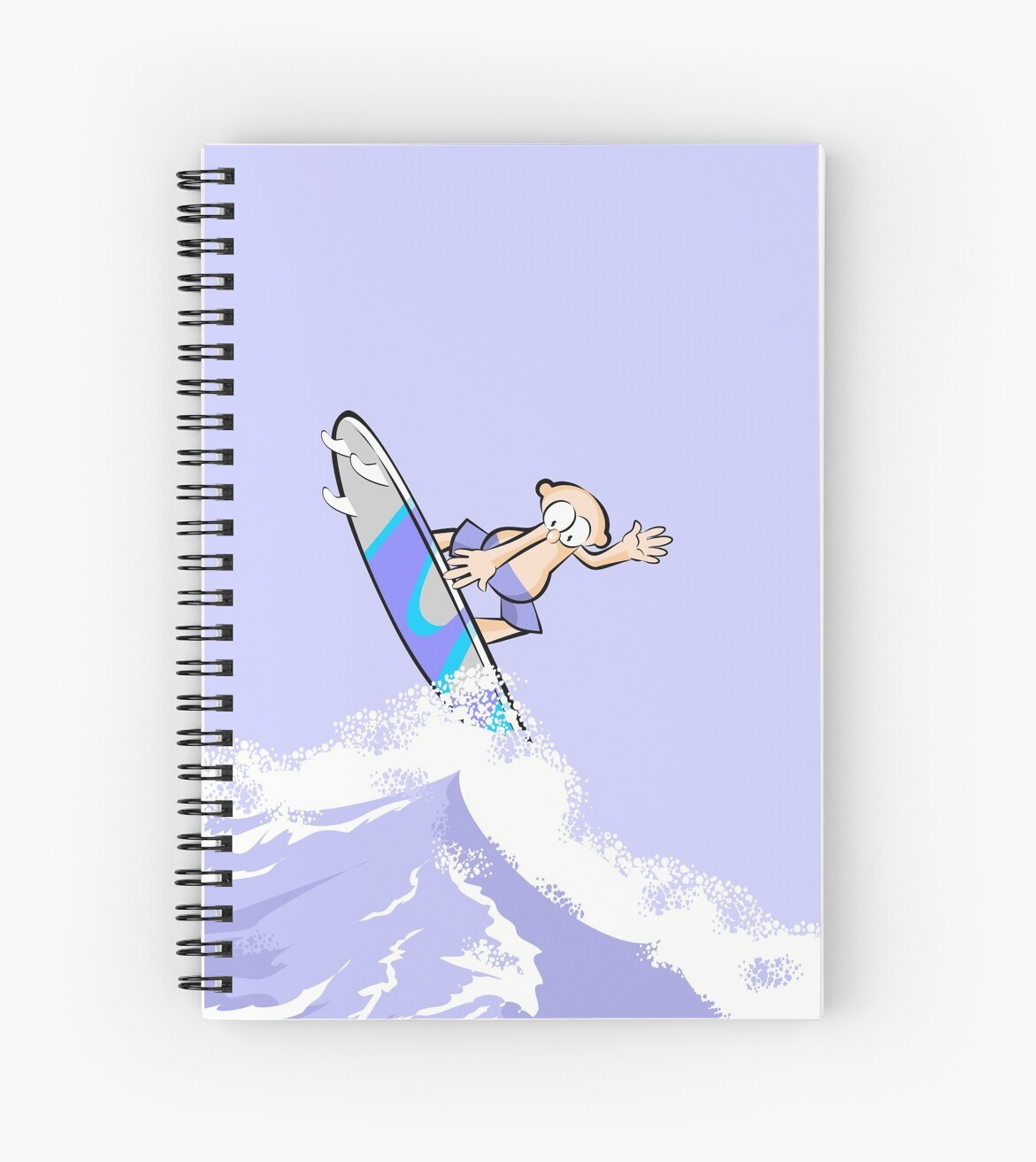 Boy surfing on a big wave by MegaSitioDesign