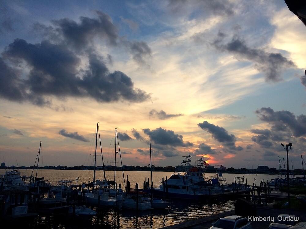Sunset at Pensacola Marina by Kimberly  Outlaw