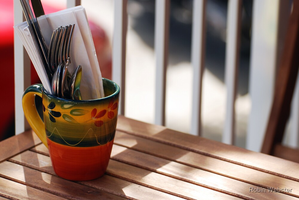 Place Setting in a Cup by Robin Webster