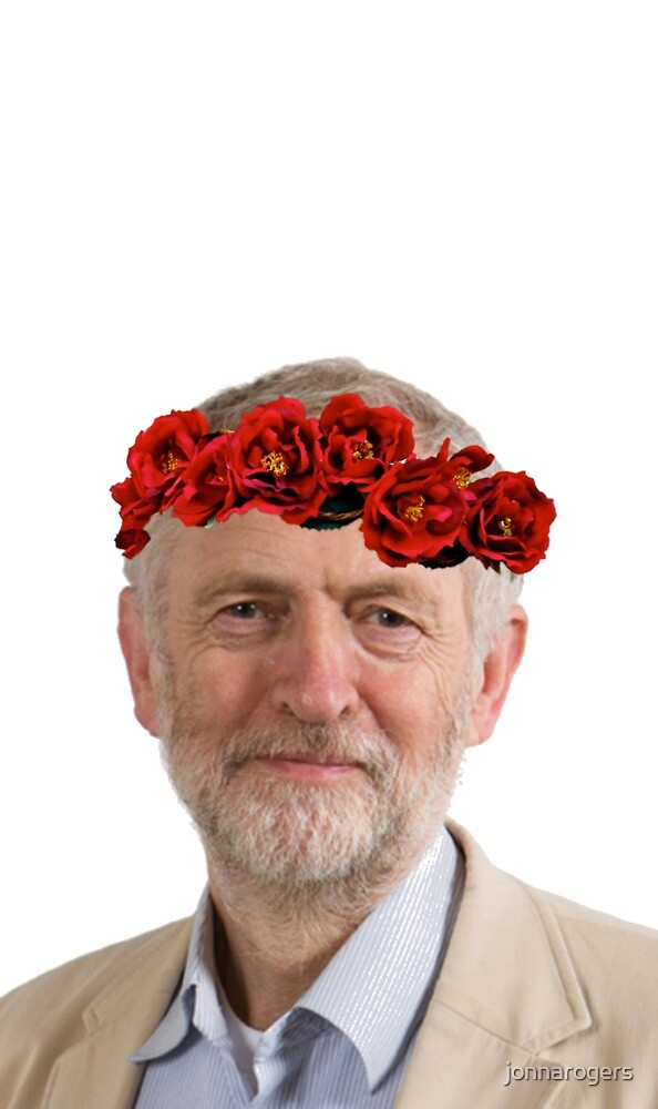 Jeremy Corbyn Flower Crown by jonnarogers