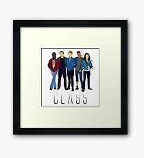 BBC Class: Full Class of '16 Silhouette (from Doctor Who) Framed Print