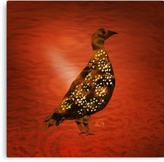 African bird bronze by thebigG2005