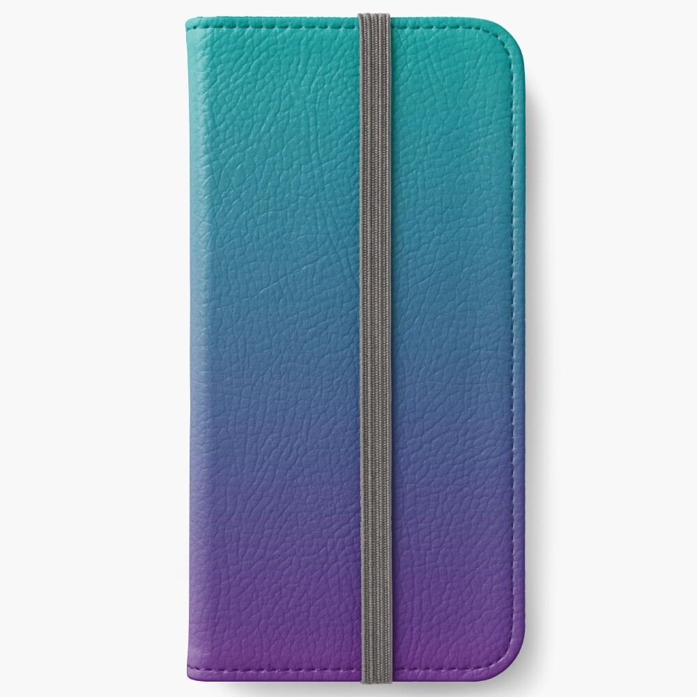 Ombre | Gradient Colors | Teal and Purple |  iPhone Wallet