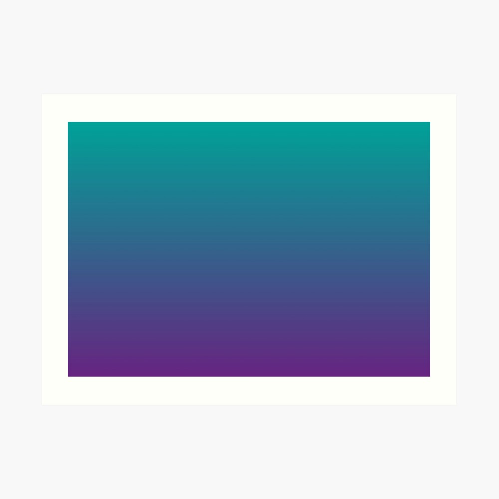 Ombre   Gradient Colors   Teal and Purple    Art Print