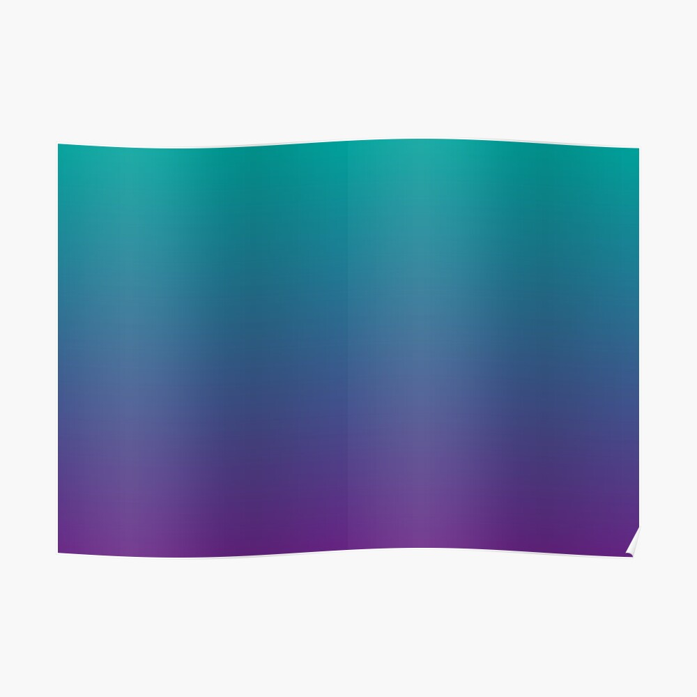 Ombre | Gradient Colors | Teal and Purple |  Poster