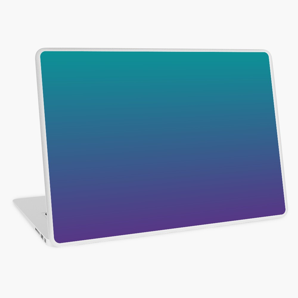 Ombre | Gradient Colors | Teal and Purple |  Laptop Skin