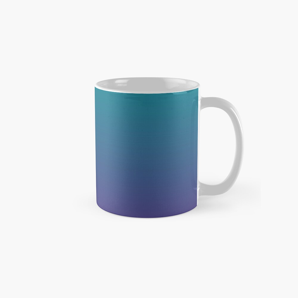Ombre   Gradient Colors   Teal and Purple    Classic Mug