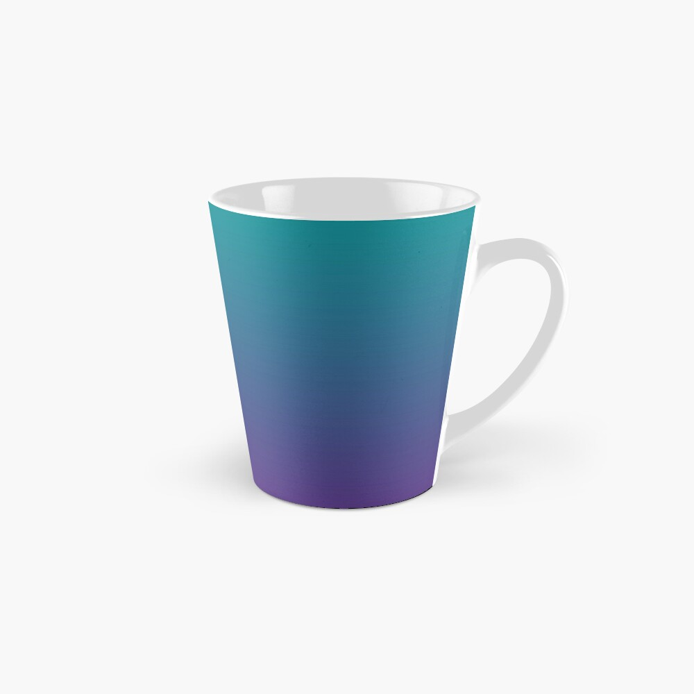 Ombre | Gradient Colors | Teal and Purple |  Tall Mug