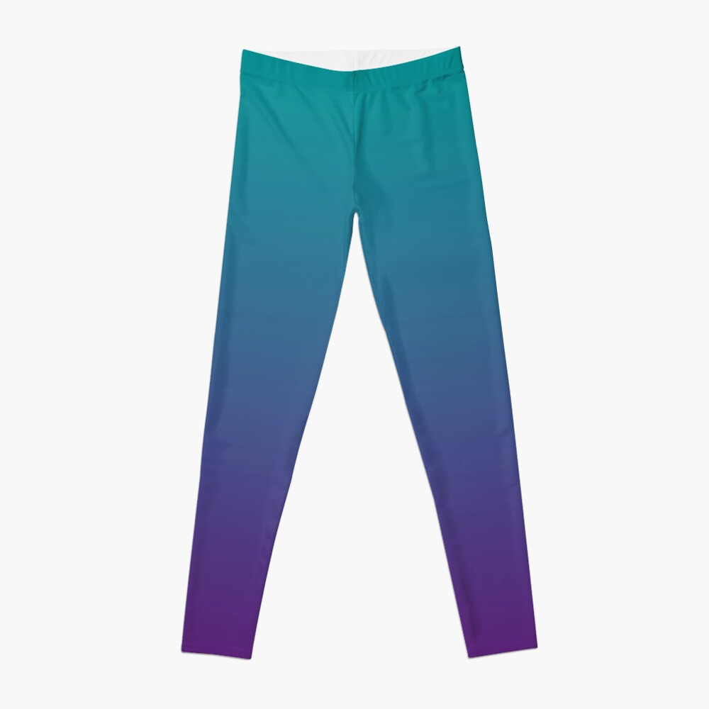 Ombre | Gradient Colors | Teal and Purple |  Leggings