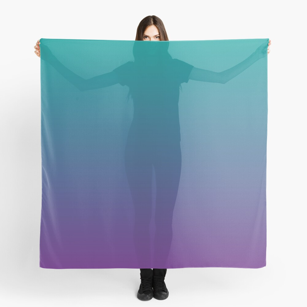 Ombre | Gradient Colors | Teal and Purple |  Scarf