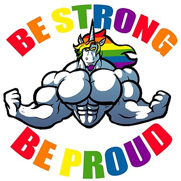 Pride Unicorn Strong Unicorn by Penn92Evans