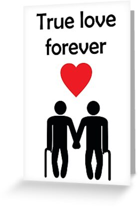 True love forever gay men greeting card from bent sentiments true love forever gay men greeting card from bent sentiments by bentsentiments m4hsunfo