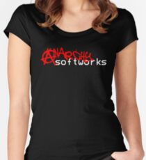 Anarchy Softworks Logo Women's Fitted Scoop T-Shirt