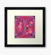 """""""Abstract polka dots in pink and pastel colors"""" Framed Print"""