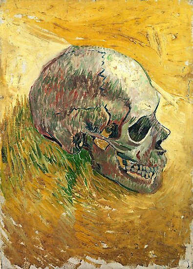 Vincent Van Gogh Skull Painting  by fineearth