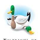 Tolerance Cute Duck Greeting Card by ConnorMackenzie