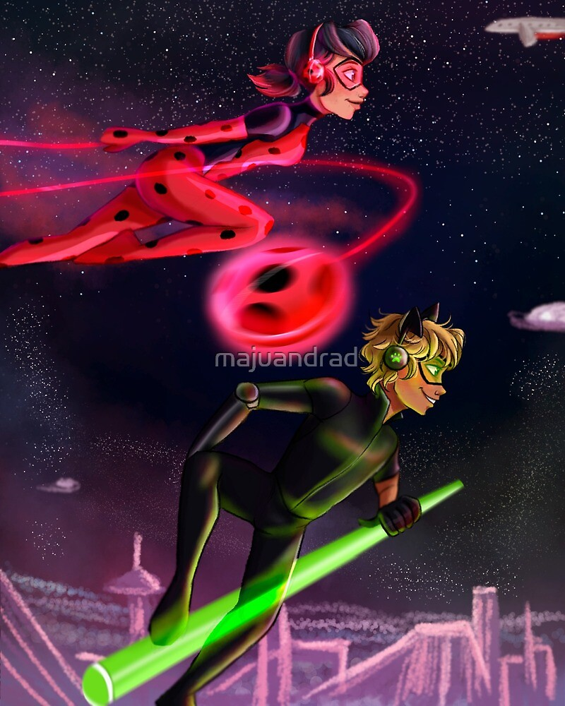 Future AU Ladybug and Chat Noir by majuandrad