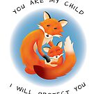 Parent Love Cute Fox Greeting Card by ConnorMackenzie